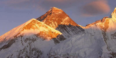 Everest during sunrise time